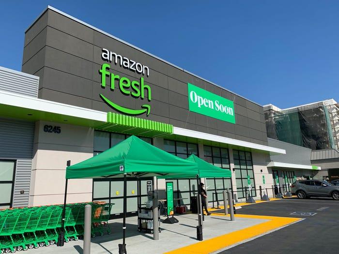 亚马逊计划在南加州、新泽西州等地开设Amazon Fresh新店